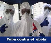 Médicos de Cuba contra epidemia de ébola en África Occidental.