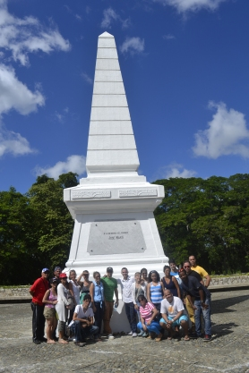 En el Monumento Nacional en Dos Ríos, lugar exacto donde murió José Martí, Héroe Nacional de Cuba.