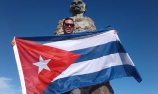Yasel Toledo Garnache en el Pico Turquino