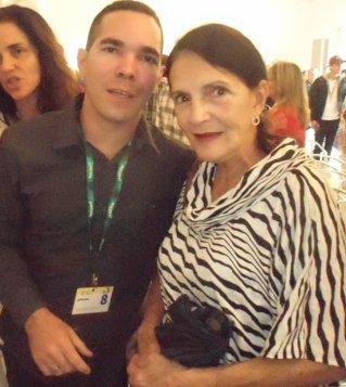 Junto a Eslinda Núñez