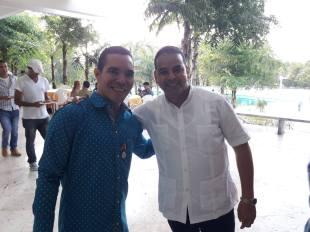 Junto a Yoerky Sánchez