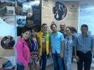 Con amigos en la Universidad de Holguín