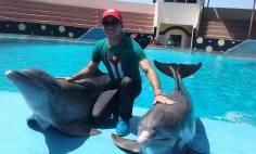 Junto a delfines